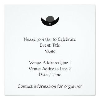 Ejemplo negro del gorra del pirata invitación