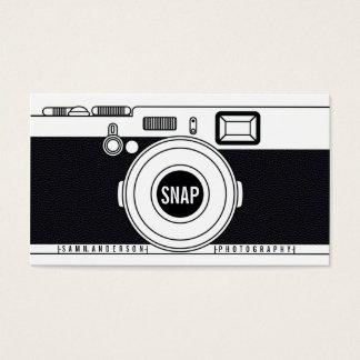 Ejemplo negro moderno de la cámara fresca del tarjeta de negocios