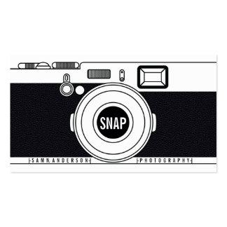 Ejemplo negro moderno de la cámara fresca del tarjetas de visita