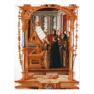 Ejemplo representando el canto del coro tarjetas postales