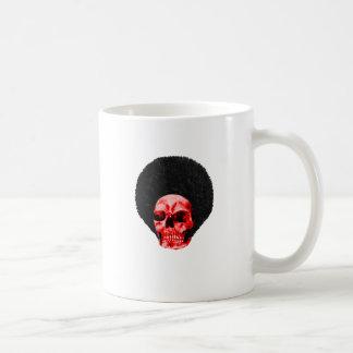 Ejemplo rojo negro del cráneo del Afro el GIF de Z Taza