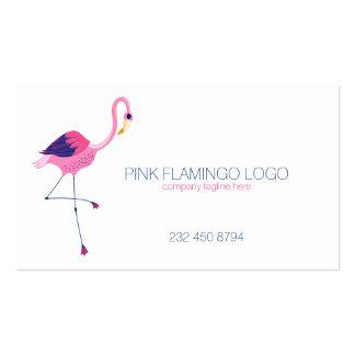 Ejemplo rosado del flamenco tarjetas de visita
