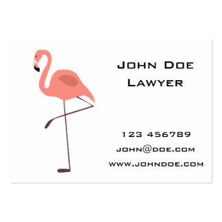 Ejemplo rosado del pájaro del flamenco tarjetas personales