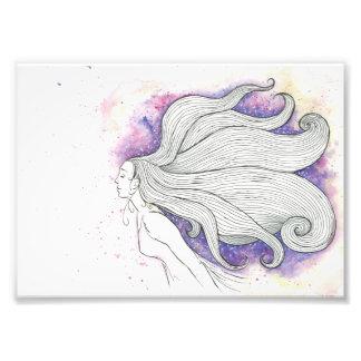Ejemplo soñador del watercolour y de la tinta foto