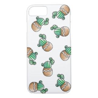 Ejemplo suculento lindo del modelo del cactus funda iPhone 7