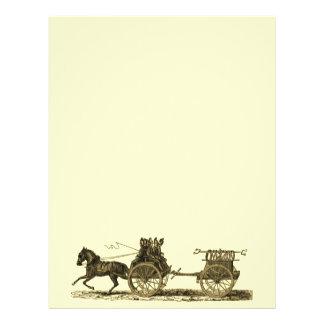 Ejemplo traído por caballo del coche de bomberos d folleto 21,6 x 28 cm