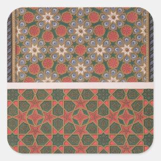 Ejemplos de las decoraciones del techo, del 'arte pegatina cuadrada