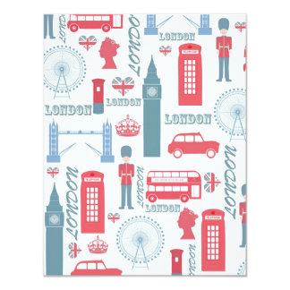 Ejemplos de moda frescos de la señal de Londres Invitación 10,8 X 13,9 Cm