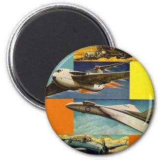 Ejemplos retros de los aviones de combate del kits imán de frigorífico