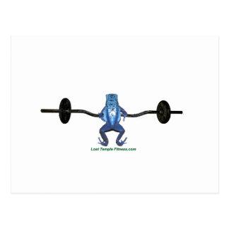 ejercicio del barbell y de la rana