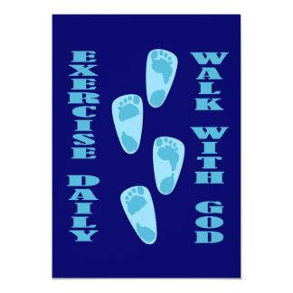 Ejercicio - paseo con dios (11:28 de Matt - 30 Invitación 12,7 X 17,8 Cm