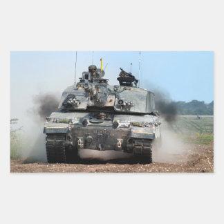 Ejército británico de tanque de batalla principal pegatina rectangular