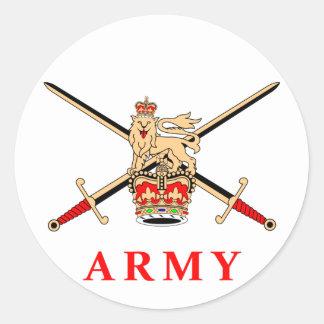 Ejército BRITÁNICO Pegatina Redonda