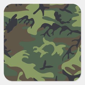 Ejército Camo Calcomanías Cuadradas