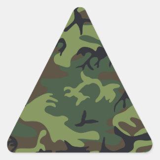 Ejército Camo Calcomania Triangulo