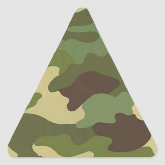 Ejército Camo Calcomania Triangulo Personalizadas