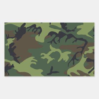 Ejército Camo Pegatina Rectangular