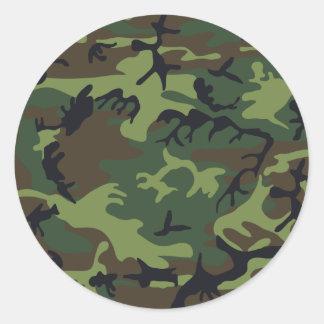 Ejército Camo Pegatina Redonda