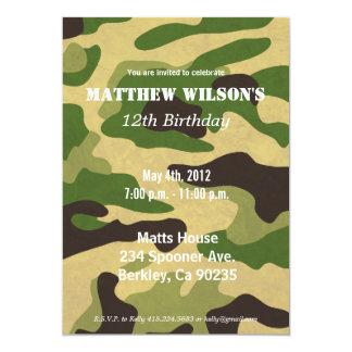 Ejército Camoflauge Invitación 12,7 X 17,8 Cm