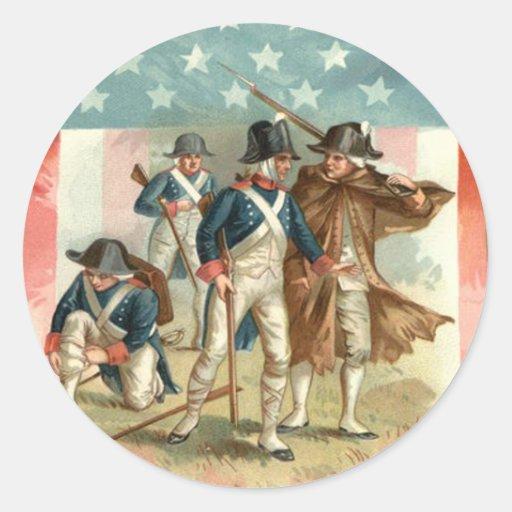 Ejército continental del escudo de la bandera de pegatinas redondas