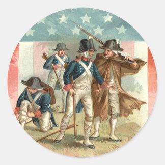 Ejército continental del escudo de la bandera de pegatina redonda