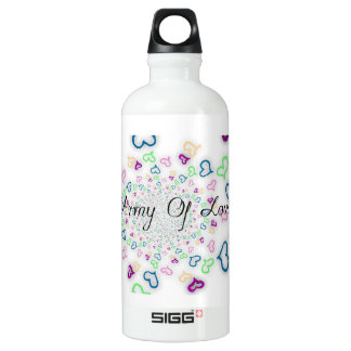 Ejército de amor botella de agua