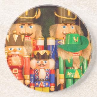 Ejército de cascanueces del navidad posavasos