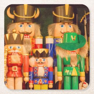 Ejército de cascanueces del navidad posavasos cuadrado de papel
