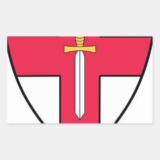 Ejército de Eirst Pegatina Rectangular