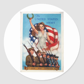 Ejército de Estados Unidos para siempre Pegatina Redonda