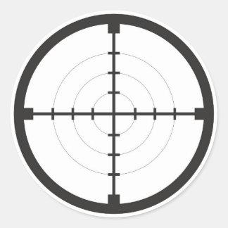 ejército del arma del arma del símbolo de la pegatina redonda