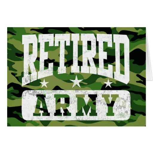 Ejército jubilado felicitaciones