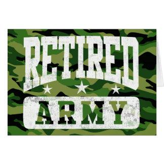 Ejército jubilado tarjeta de felicitación