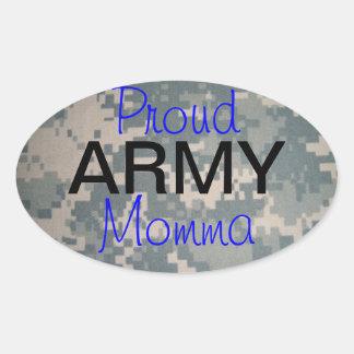 Ejército orgulloso Momma (oval) Pegatina De Óval