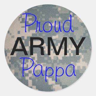 Ejército orgulloso Pappa Pegatina