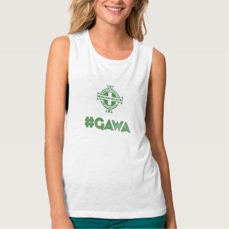 Ejército verde y blanco de Irlanda del Norte Camiseta Con Tirantes