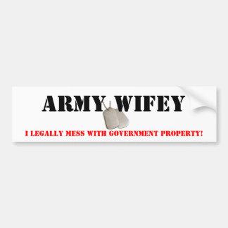 Ejército Wifey Pegatina Para Coche