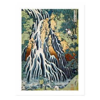 el きりふりの滝, 北斎 Kirifuri cae, Hokusai, Ukiyo-e Postal