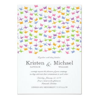 El 1000 casarse de papel colgantes de las grúas de invitación 12,7 x 17,8 cm