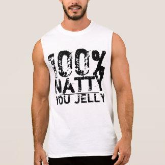 El 100% elegante usted jalea camiseta sin mangas