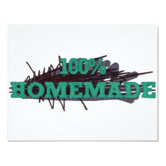 El 100% hecho en casa invitación 10,8 x 13,9 cm