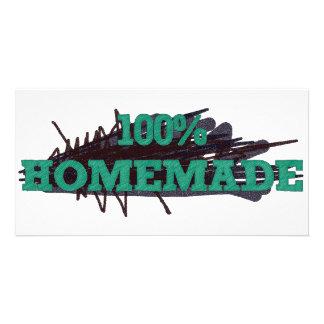 El 100 hecho en casa tarjeta fotografica personalizada