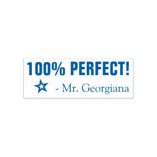 """El """"100% PERFECTO!"""" Sello de goma del profesor"""