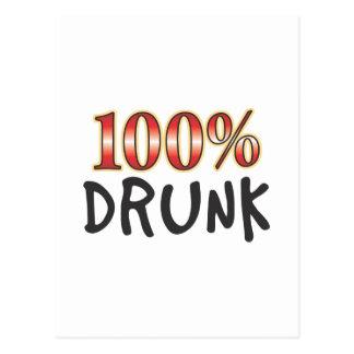 El 100 por ciento borracho tarjetas postales