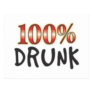 El 100 por ciento borracho postal