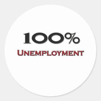 El 100 por ciento de desempleo etiquetas