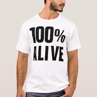 El 100% vivo camiseta