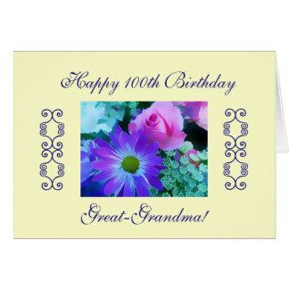 el 100o cumpleaños de las Grande-abuelas Tarjeta De Felicitación
