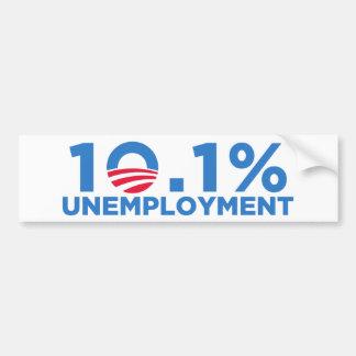 el 10,1 por ciento de desempleo pegatina de parachoque