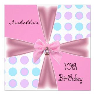 El 10mo cumpleaños de la invitación mancha el arco
